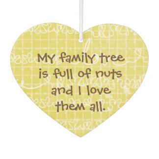 Family Tree Full of Nuts Love Heart Car Freshener Car Air Freshener