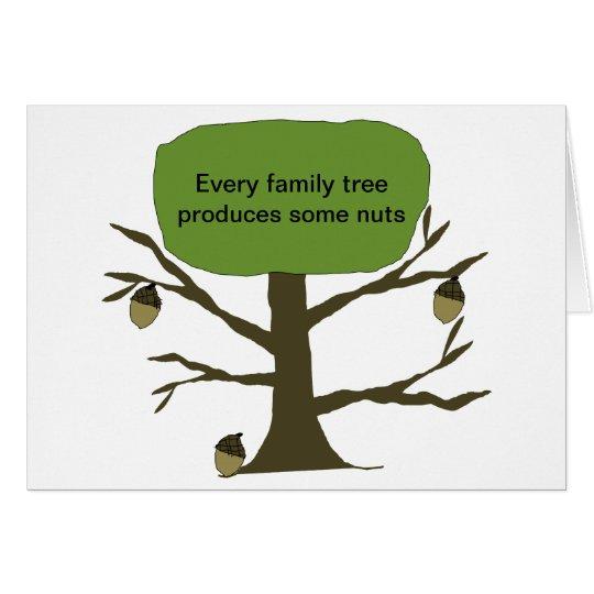 Family Tree Funny Birthday Card