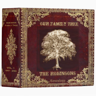 Family Tree Genealogy Album Binder at Zazzle