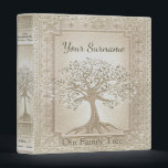 """Family Tree Genealogy Album Binder<br><div class=""""desc"""">A soft suede leather look antique genealogy album featuring a family tree design in. Design by Amelia Carrie</div>"""