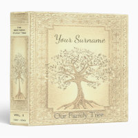 Family Tree Genealogy Album Gold Binder