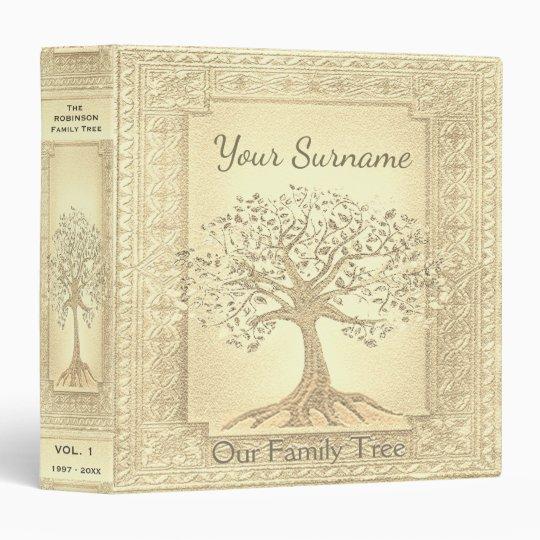 Family Tree Genealogy Album Gold Binder