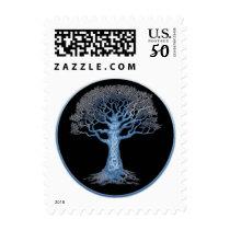 Family Tree Genealogy Correspondence Postage Stamp