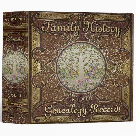 Family Tree | Genealogy Family History 3 Ring Binder