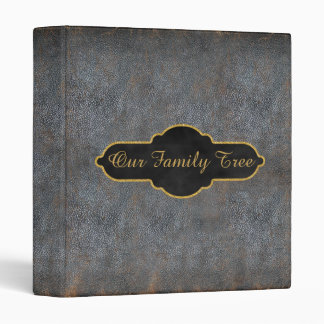 Family Tree Genealogy Rustic Antique Book Leather 3 Ring Binder
