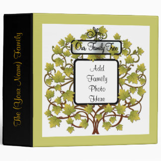 FAMILY TREE HEIRLOOM GENEALOGY PHOTO ALBUM 3 RING BINDER