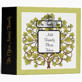 FAMILY TREE HEIRLOOM GENEALOGY PHOTO ALBUM VINYL BINDER