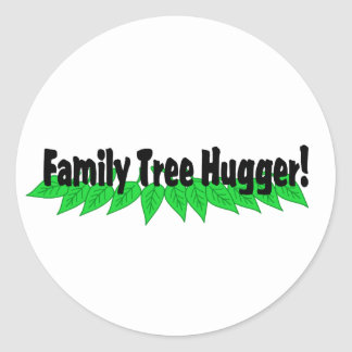 Family Tree Hugger Classic Round Sticker