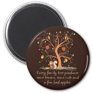 Family Tree Humor 2 Inch Round Magnet