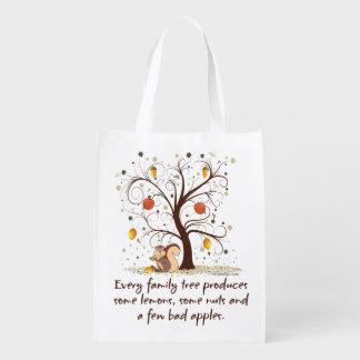 Family Tree Humor Grocery Bag