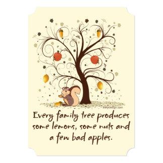 Family Tree Humor 5x7 Paper Invitation Card