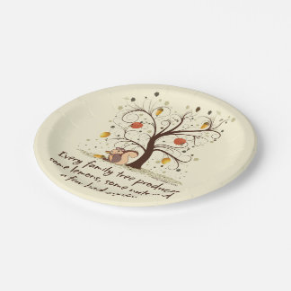 Family Tree Humor Paper Plate
