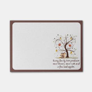 Family Tree Humor Post-it Notes