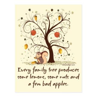 Family Tree Humor Postcard