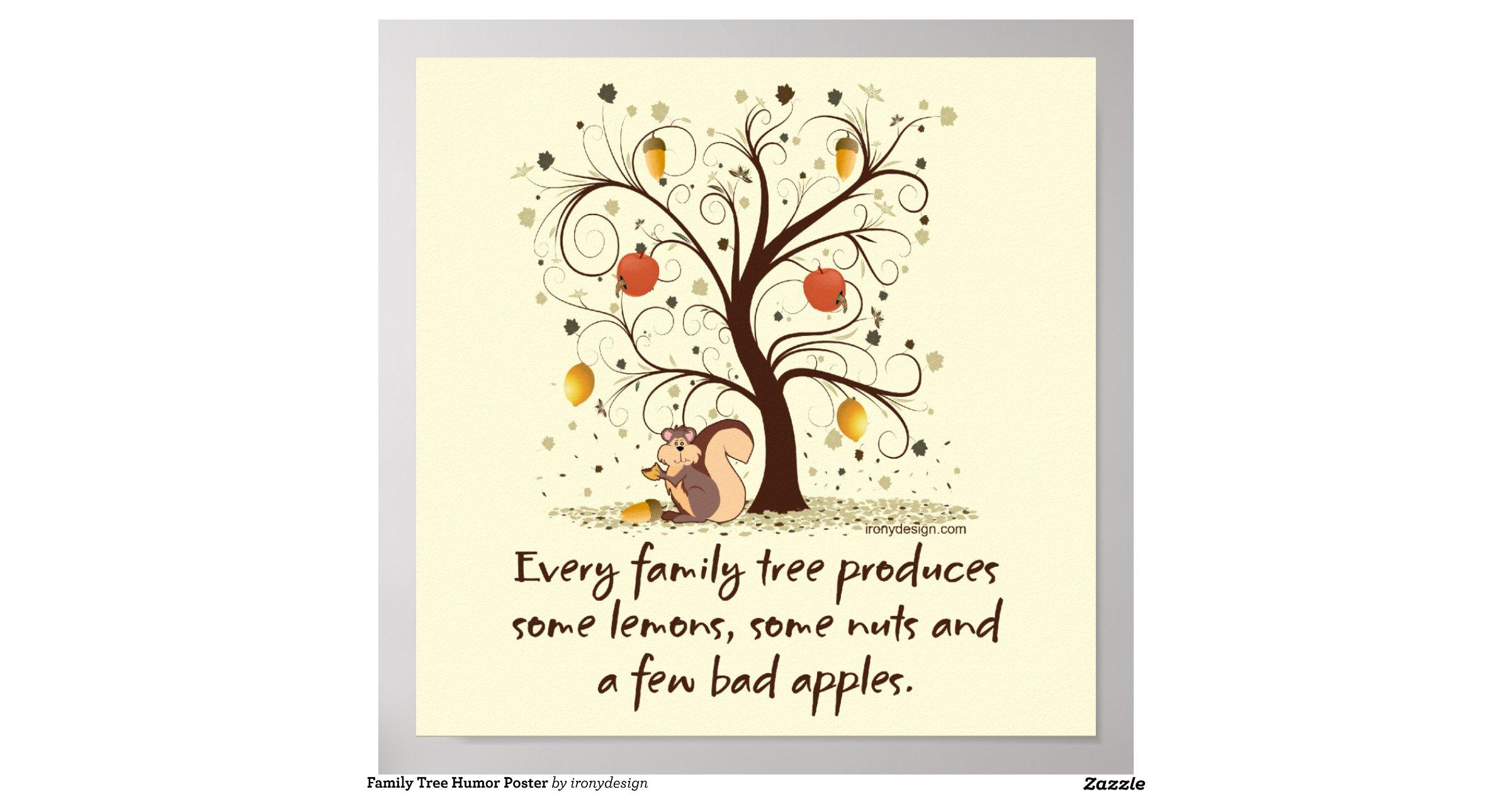Family tree humor poster r ba ef fbc faea a