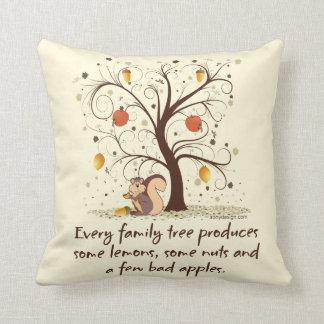 Family Tree Humor Throw Pillow