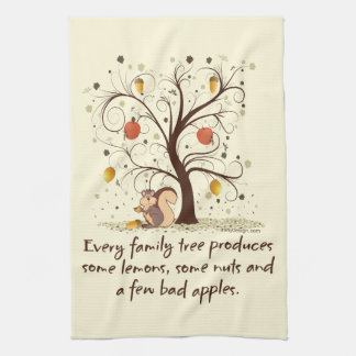 Family Tree Humor Towel