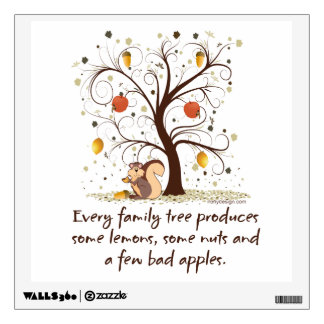 Family Tree Humor Wall Decal