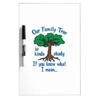 FAMILY TREE IS SHADY Dry-Erase BOARD