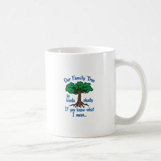 FAMILY TREE IS SHADY CLASSIC WHITE COFFEE MUG