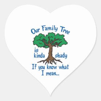FAMILY TREE IS SHADY HEART STICKER