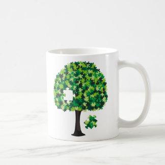 Family Tree Jigsaw Puzzle Classic White Coffee Mug