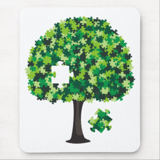 Family Tree Jigsaw Puzzle Mouse Pad
