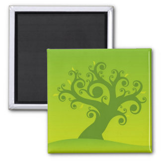 Family Tree Magnet: Spring 2 Inch Square Magnet