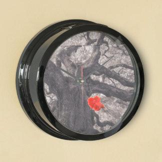 Family Tree Nature's Old Mighty Wisdom Aqua Clocks