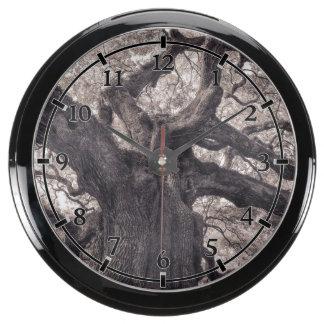 Family Tree Nature's Old Mighty Wisdom Fish Tank Clock
