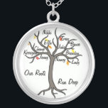 "Family Tree Necklace Custom Up To 10 Members<br><div class=""desc"">Customize your very own family tree necklace. Wonderful gift for a mother or grandmother. Change the font,  color of font and names to make your very own!</div>"