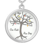 Family Tree Necklace Custom Up To 10 Members<br><div class='desc'>Customize your very own family tree necklace. Wonderful gift for a mother or grandmother. Change the font,  color of font and names to make your very own!</div>