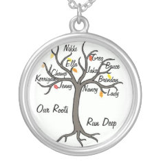 Family Tree Necklace Custom Up To 10 Members at Zazzle