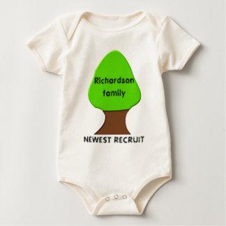 Family Tree newest recruit Custom Baby Clothing Baby Bodysuit