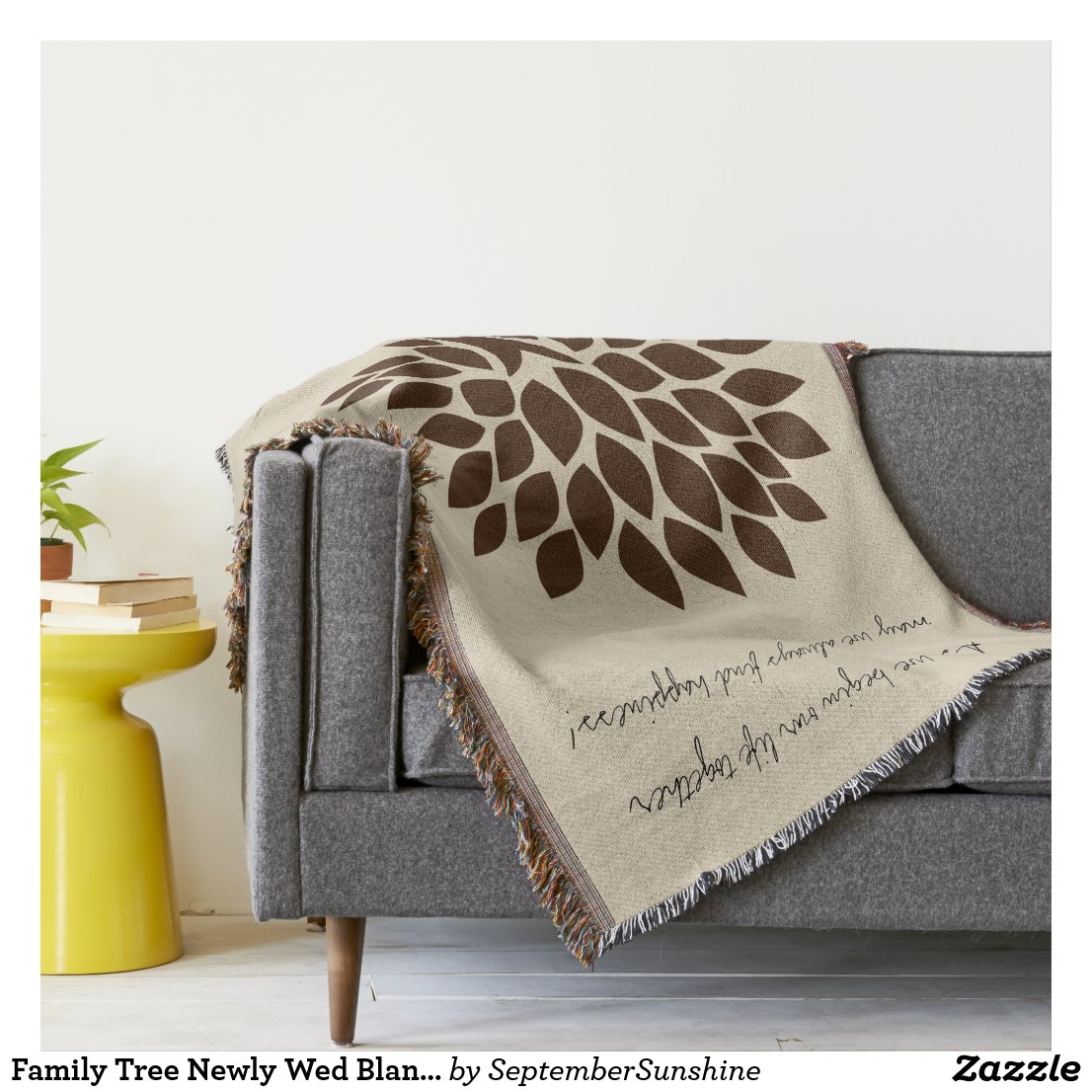 Family Tree Newly Wed Blanket