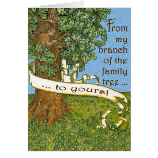 Family Tree Notecards Greeting Card