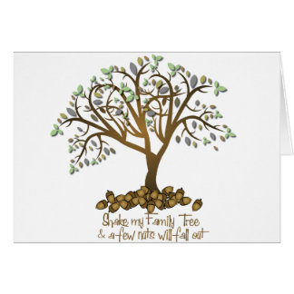 Family Tree Nuts Greeting Cards