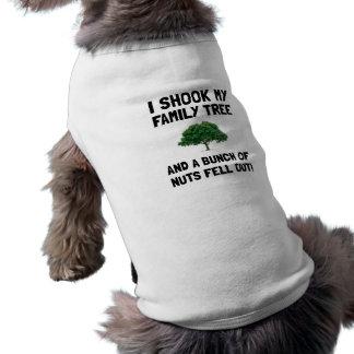 Family Tree Nuts Dog Tshirt