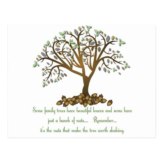 Family Tree Nuts Postcard