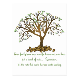 Family Tree Nuts Postcard