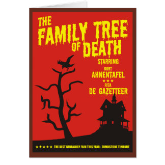Family Tree Of Death Greeting Card