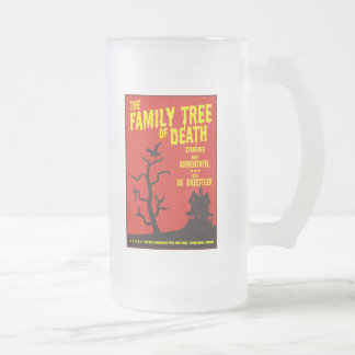 Family Tree Of Death 16 Oz Frosted Glass Beer Mug