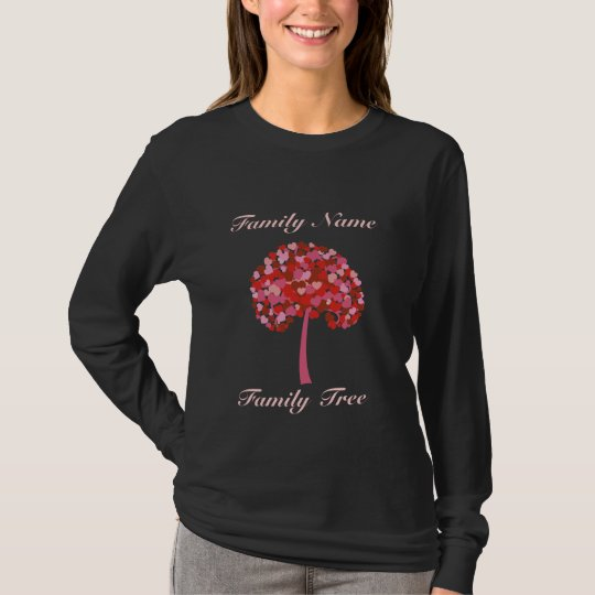 Family Tree Of Hearts Shirt - Custom