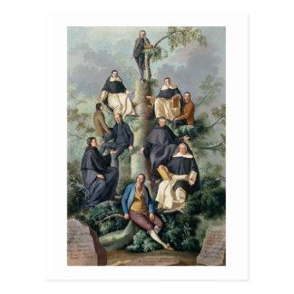 Family Tree of the Sammartin Family, 1787 Postcard