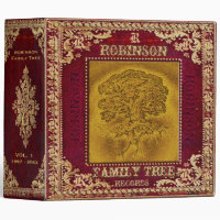 Family Tree Photo and Scrapbook with Monogram 3 Ring Binder