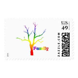 Family Tree Postage Stamp