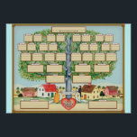 """Family Tree poster<br><div class=""""desc"""">Celebrate your ancestry with this Family tree poster with spaces to enter the names of family members.</div>"""