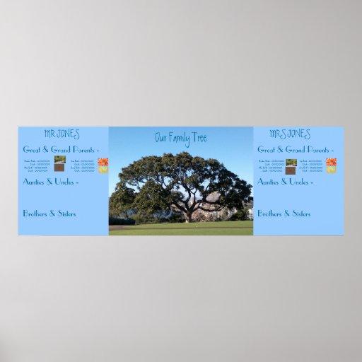 Family tree poster zazzle
