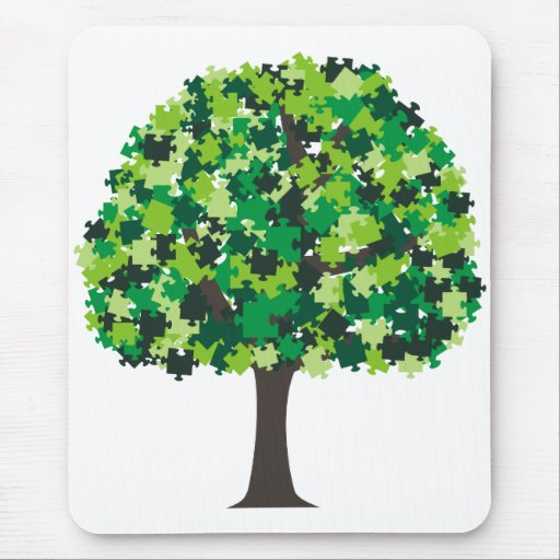 Family Tree Puzzle Mouse Pad