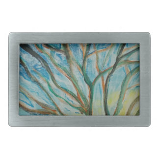 Family Tree Rectangular Belt Buckle